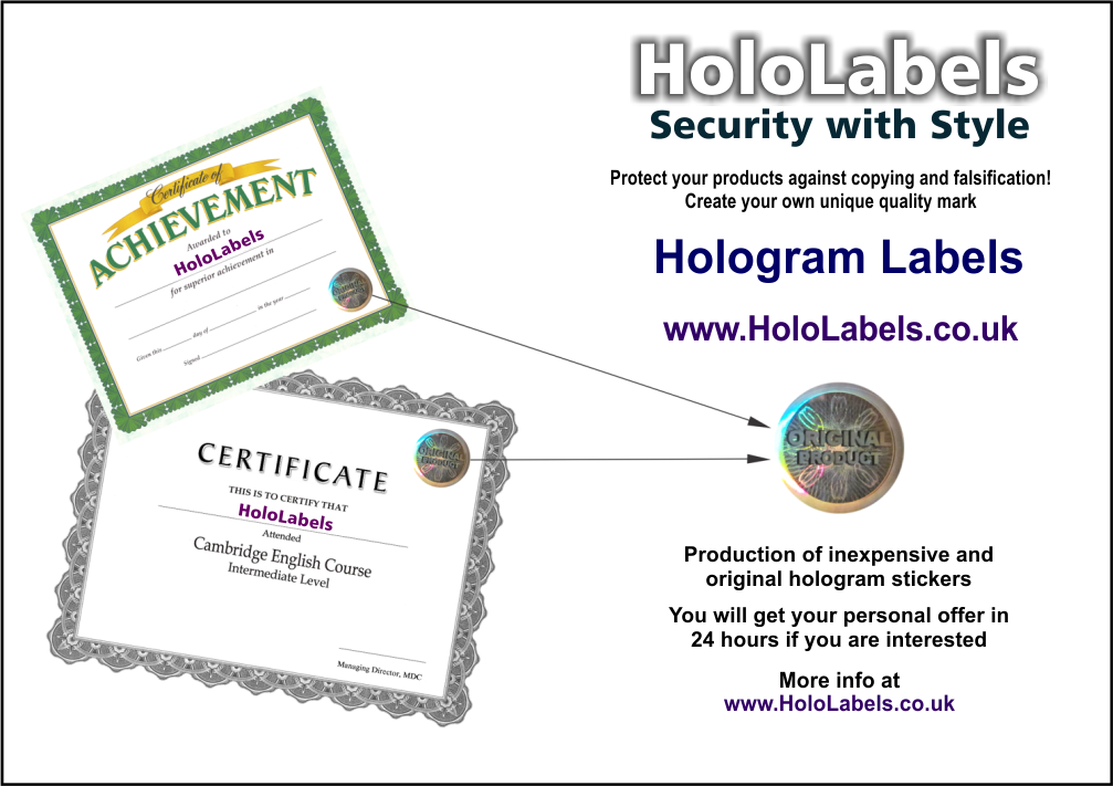 Authenticity Protection for Certificates, Diplomas and Degrees